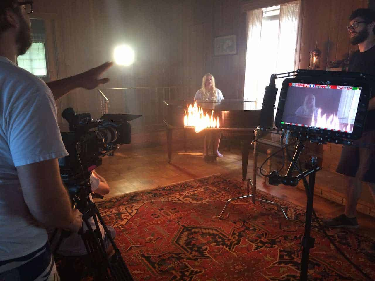Shot from the music video set in Orlando